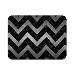 Chevron9 Black Marble & Gray Metal 1 Double Sided Flano Blanket (mini)