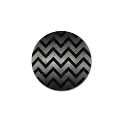 Chevron9 Black Marble & Gray Metal 1 (r) Golf Ball Marker