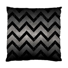 Chevron9 Black Marble & Gray Metal 1 (r) Standard Cushion Case (one Side)