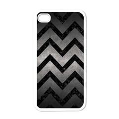 Chevron9 Black Marble & Gray Metal 1 (r) Apple Iphone 4 Case (white)