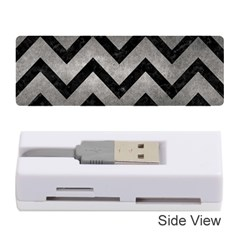 Chevron9 Black Marble & Gray Metal 1 (r) Memory Card Reader (stick)