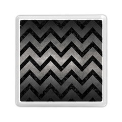 Chevron9 Black Marble & Gray Metal 1 (r) Memory Card Reader (square)