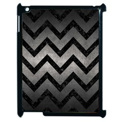 Chevron9 Black Marble & Gray Metal 1 (r) Apple Ipad 2 Case (black)