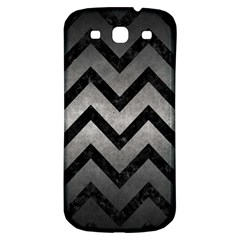 Chevron9 Black Marble & Gray Metal 1 (r) Samsung Galaxy S3 S Iii Classic Hardshell Back Case