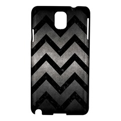 Chevron9 Black Marble & Gray Metal 1 (r) Samsung Galaxy Note 3 N9005 Hardshell Case