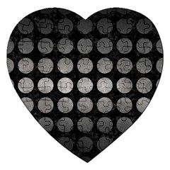 Circles1 Black Marble & Gray Metal 1 Jigsaw Puzzle (heart)