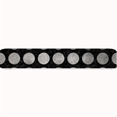 Circles1 Black Marble & Gray Metal 1 Small Bar Mats