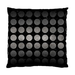 Circles1 Black Marble & Gray Metal 1 Standard Cushion Case (two Sides)