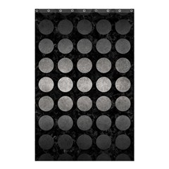 Circles1 Black Marble & Gray Metal 1 Shower Curtain 48  X 72  (small)
