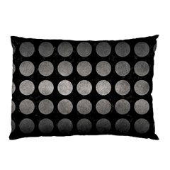 Circles1 Black Marble & Gray Metal 1 Pillow Case (two Sides)