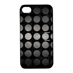 Circles1 Black Marble & Gray Metal 1 Apple Iphone 4/4s Hardshell Case With Stand