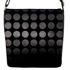 Circles1 Black Marble & Gray Metal 1 Flap Messenger Bag (s)