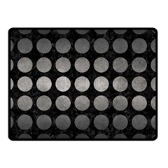 Circles1 Black Marble & Gray Metal 1 Double Sided Fleece Blanket (small)