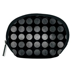 Circles1 Black Marble & Gray Metal 1 Accessory Pouches (medium)