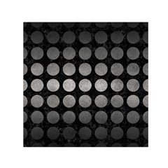 Circles1 Black Marble & Gray Metal 1 Small Satin Scarf (square)