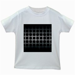 Circles1 Black Marble & Gray Metal 1 (r) Kids White T Shirts