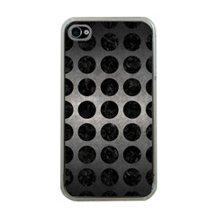 Circles1 Black Marble & Gray Metal 1 (r) Apple Iphone 4 Case (clear)