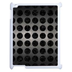 Circles1 Black Marble & Gray Metal 1 (r) Apple Ipad 2 Case (white)