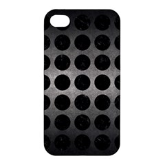 Circles1 Black Marble & Gray Metal 1 (r) Apple Iphone 4/4s Premium Hardshell Case