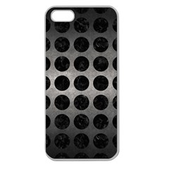 Circles1 Black Marble & Gray Metal 1 (r) Apple Seamless Iphone 5 Case (clear)