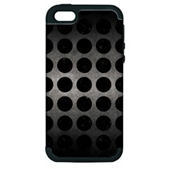 Circles1 Black Marble & Gray Metal 1 (r) Apple Iphone 5 Hardshell Case (pc+silicone)
