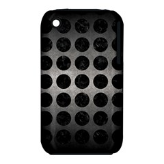 Circles1 Black Marble & Gray Metal 1 (r) Iphone 3s/3gs