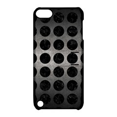 Circles1 Black Marble & Gray Metal 1 (r) Apple Ipod Touch 5 Hardshell Case With Stand