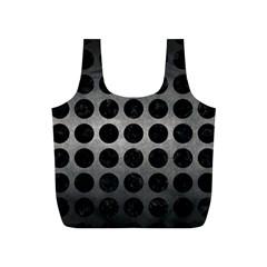 Circles1 Black Marble & Gray Metal 1 (r) Full Print Recycle Bags (s)