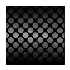 Circles2 Black Marble & Gray Metal 1 Tile Coasters