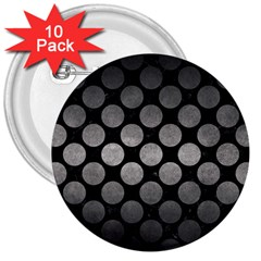 Circles2 Black Marble & Gray Metal 1 3  Buttons (10 Pack)