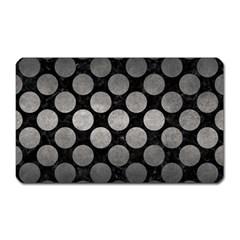 Circles2 Black Marble & Gray Metal 1 Magnet (rectangular)