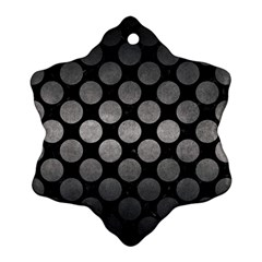 Circles2 Black Marble & Gray Metal 1 Ornament (snowflake)
