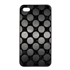 Circles2 Black Marble & Gray Metal 1 Apple Iphone 4/4s Seamless Case (black)