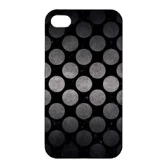 Circles2 Black Marble & Gray Metal 1 Apple Iphone 4/4s Hardshell Case