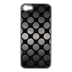 Circles2 Black Marble & Gray Metal 1 Apple Iphone 5 Case (silver)