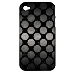 Circles2 Black Marble & Gray Metal 1 Apple Iphone 4/4s Hardshell Case (pc+silicone)