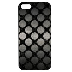 Circles2 Black Marble & Gray Metal 1 Apple Iphone 5 Hardshell Case With Stand