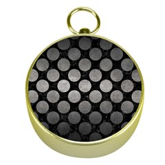 Circles2 Black Marble & Gray Metal 1 Gold Compasses
