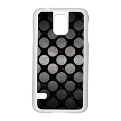 Circles2 Black Marble & Gray Metal 1 Samsung Galaxy S5 Case (white)