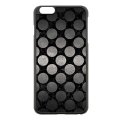 Circles2 Black Marble & Gray Metal 1 Apple Iphone 6 Plus/6s Plus Black Enamel Case