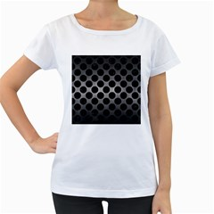 Circles2 Black Marble & Gray Metal 1 (r) Women s Loose Fit T Shirt (white)
