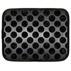 Circles2 Black Marble & Gray Metal 1 (r) Netbook Case (xl)