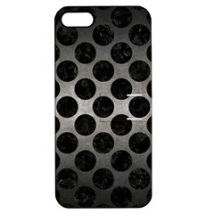 Circles2 Black Marble & Gray Metal 1 (r) Apple Iphone 5 Hardshell Case With Stand