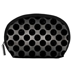 Circles2 Black Marble & Gray Metal 1 (r) Accessory Pouches (large)
