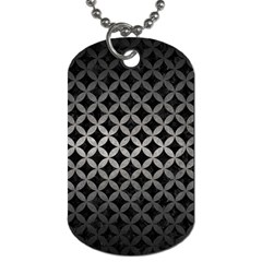 Circles3 Black Marble & Gray Metal 1 Dog Tag (one Side)
