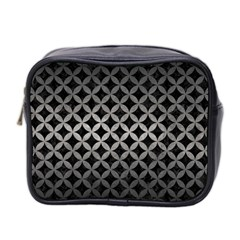 Circles3 Black Marble & Gray Metal 1 Mini Toiletries Bag 2 Side