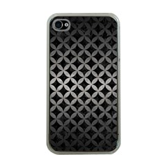 Circles3 Black Marble & Gray Metal 1 Apple Iphone 4 Case (clear)