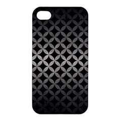 Circles3 Black Marble & Gray Metal 1 Apple Iphone 4/4s Hardshell Case