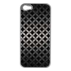 Circles3 Black Marble & Gray Metal 1 Apple Iphone 5 Case (silver)