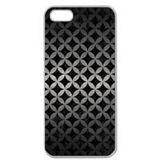 Circles3 Black Marble & Gray Metal 1 Apple Seamless Iphone 5 Case (clear)